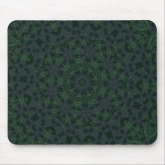 Green Psychedelic Kaleidoscopic #1 Mouse Pad