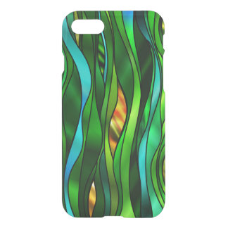 Green Psychedelic Stained Glass Style iPhone 7 Case