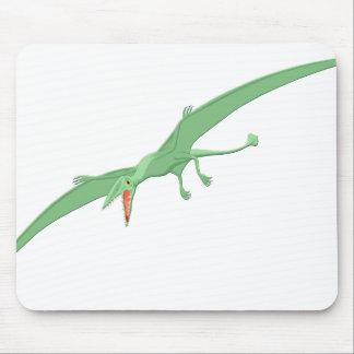 Green Pterodactyl Dinosaur 3 Mouse Pad