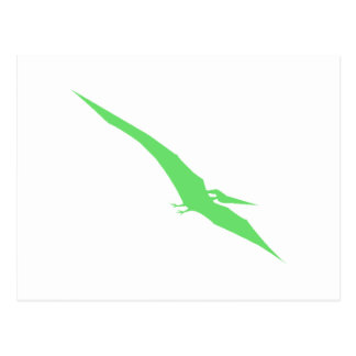 Green Pterodactyl Post Cards