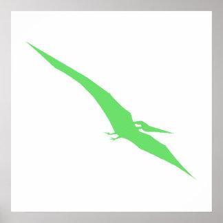 Green Pterodactyl Print