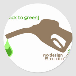 Green Pump Classic Round Sticker