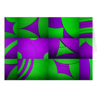 Green & Purple Abstract Pattern Card