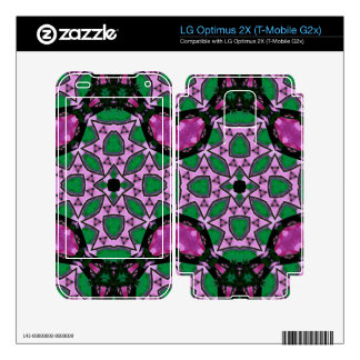 Green purple Abstract Pattern Decals For LG Optimus 2X