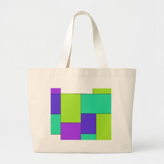 Green Purple and Blue Color Block Bag