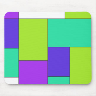 Green Purple and Blue Color Block Mousepad