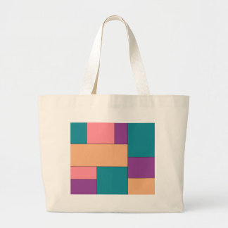 Green Purple and Brown Color Block Bag