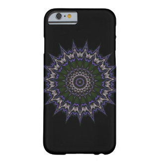 Green purple and white star pattern barely there iPhone 6 case