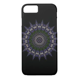 Green purple and white star pattern iPhone 7 case