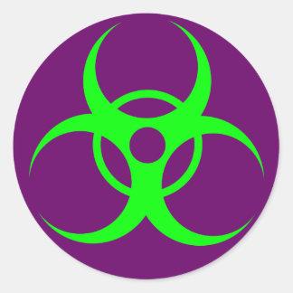 Green Purple Biohazzard Sticker