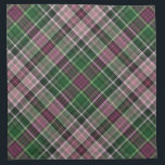 "Green purple black tartan cloth napkin<br><div class=""desc"">A plaid pattern made of rich red purple and green in dark to light shades with black accents.</div>"