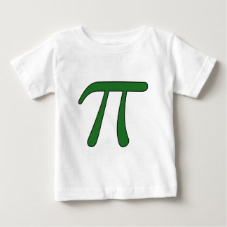 Green Purple Clear White Red Pi 3.14 symbol Math Baby T-Shirt