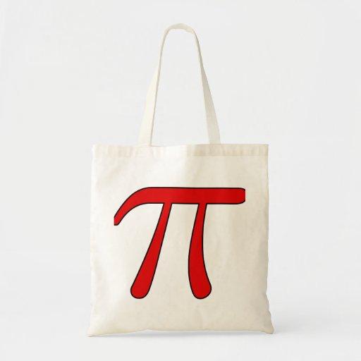 Green Purple Clear White Red Pi 3.14 symbol Math Budget Tote Bag