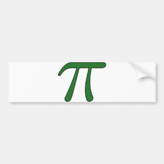 Green Purple Clear White Red Pi 3.14 symbol Math Bumper Sticker