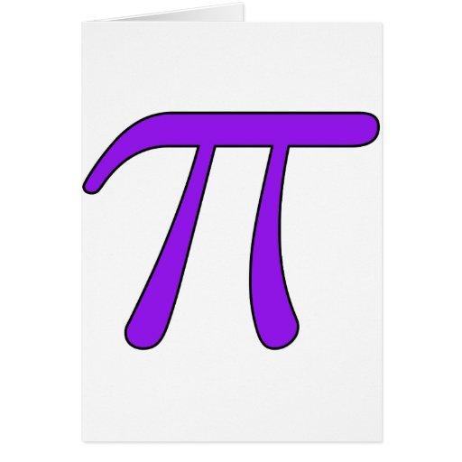 Green Purple Clear White Red Pi 3.14 symbol Math Card