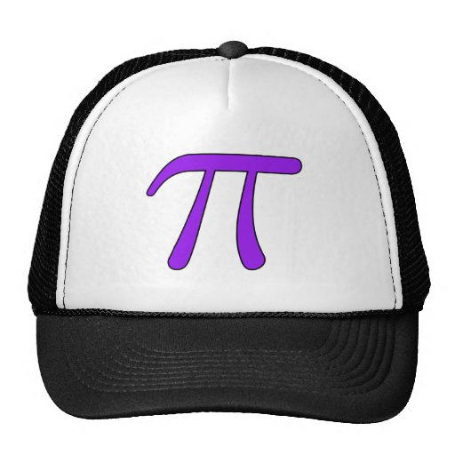 Green Purple Clear White Red Pi 3.14 symbol Math Mesh Hat