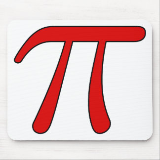Green Purple Clear White Red Pi 3.14 symbol Math Mouse Pad