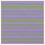 [ Thumbnail: Green & Purple Colored Lined/Striped Pattern Fabric ]