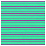 [ Thumbnail: Green & Purple Colored Striped Pattern Fabric ]