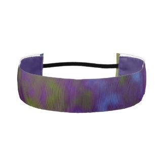 Green Purple Cosmic Abstract Athletic Headbands