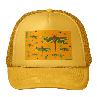 Green-Purple Dragonflies Yellow Gifts by Sharles Hat