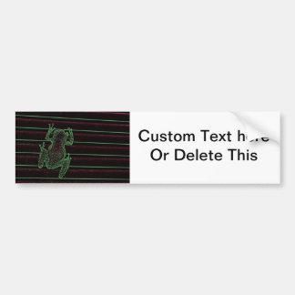 green purple frog graphic amphibian reptile design bumper sticker