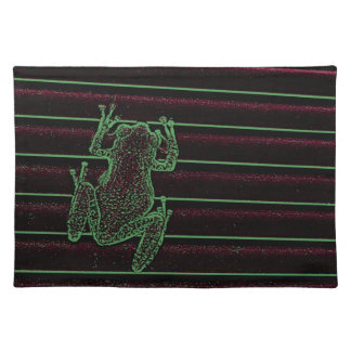 green purple frog graphic amphibian reptile design placemat
