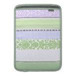 Green & purple girly stripe pattern MacBook air sleeve