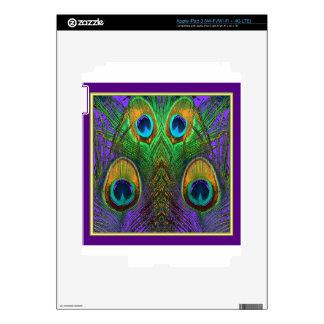 Green-Purple-Gold Peacock Feathers gifts iPad 3 Skin