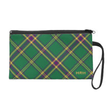 Green/Purple/Gold Tartan Plaid Bag MONOGRAMMED