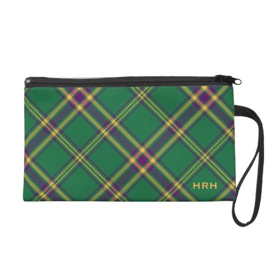 Green/Purple/Gold Tartan Plaid Bag MONOGRAMMED