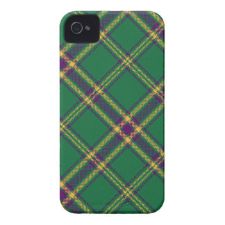 Green/Purple/Gold Tartan Plaid Blackberry Case