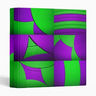 "Green & Purple Kaleidoscope 1"" Avery Binder"