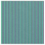 [ Thumbnail: Green & Purple Lined/Striped Pattern Fabric ]
