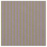 [ Thumbnail: Green & Purple Lines Pattern Fabric ]