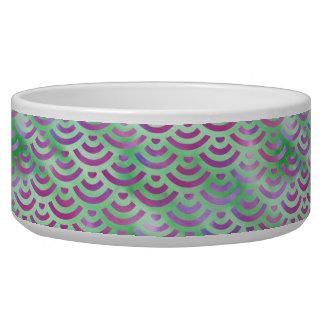 Green Purple Mermaid Pastel Pattern Bowl