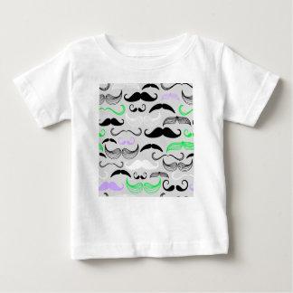 Green & Purple Mustache Design Baby T-Shirt