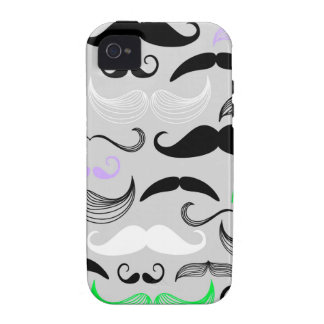 Green & Purple Mustache Design Case-Mate iPhone 4 Cover