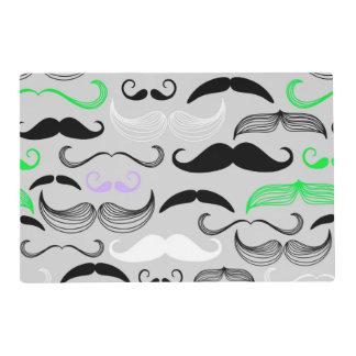 Green & Purple Mustache Design Placemat