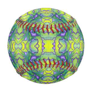 Green Purple Nerve Pattern Watercolor Baseball