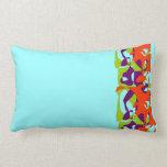 Green Purple Orange Abstract Pillow
