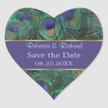 Green purple peacock Save the Date  Sticker