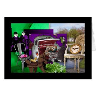 Green & purple picnic card