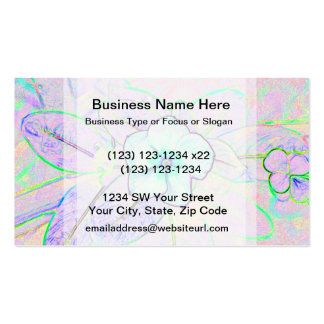 green purple pinwheel sketch flower business card