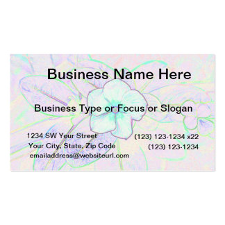 green purple pinwheel sketch flower business card templates