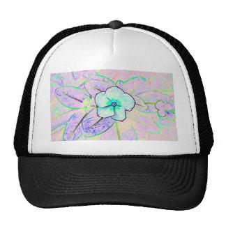 green purple pinwheel sketch flower trucker hat