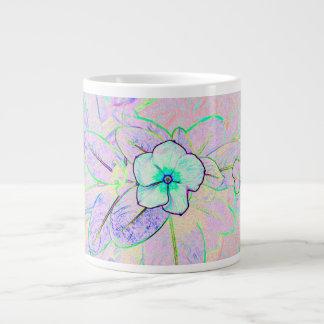 green purple pinwheel sketch flower 20 oz large ceramic coffee mug