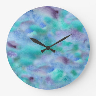 Green-purple round large clock
