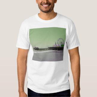 Green Purple Santa Monica Pier T-Shirt
