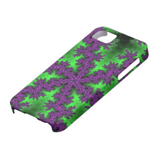 Green Purple Snowflake iPhone 5 Case